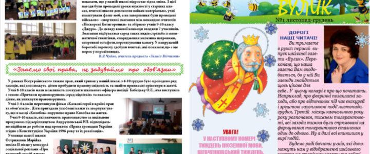 """Народження першого номера шкільної газети """"Вулик"""""""